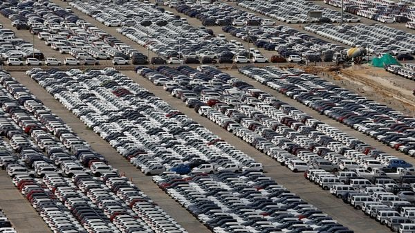 Cars are seen parked at Maruti Suzuki's plant at Manesar. (File photo) (REUTERS)