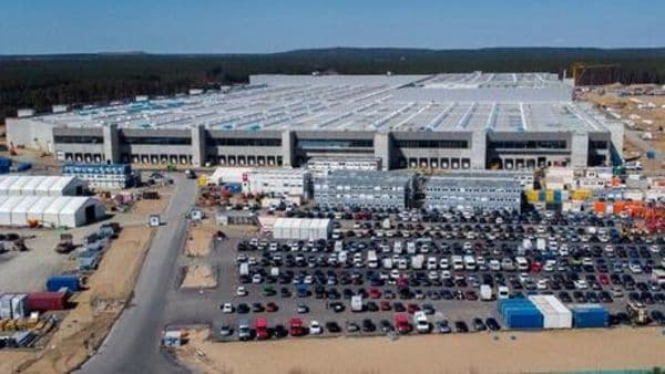File photo - The construction site of the new Tesla Gigafactory for electric cars is pictured in Gruenheide near Berlin, Germany. (AP)