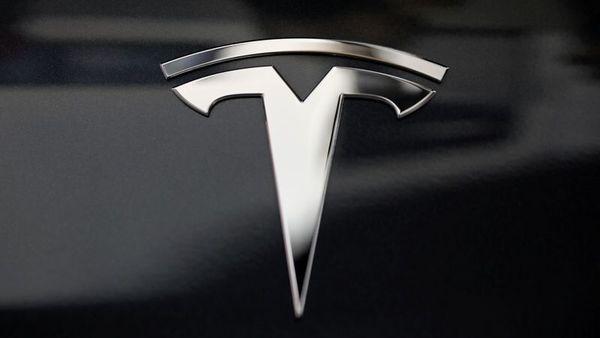 A Tesla logo. (File photo) (Reuters)