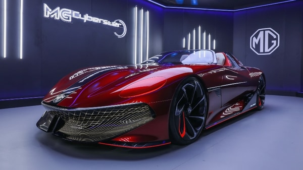 The MG Cyberster comes with a stunning suave appearance with overall fluid aerodynamic design. (File photo)