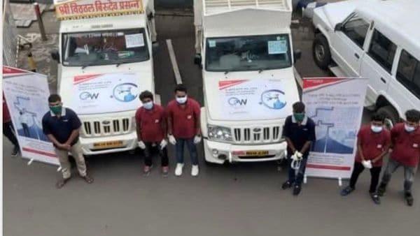 Mahindra's Bolero SUVs decked up as Oxygen on Wheels to tackle crisis in Maharashtra. (Photo courtesy: Twitter/@anandmahindra)