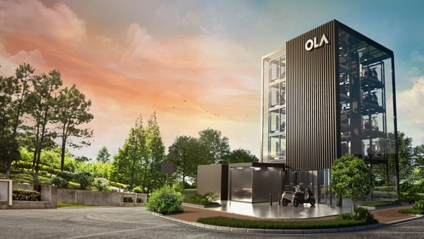 An artistic impression of a Hypercharger Network from Ola Electric.