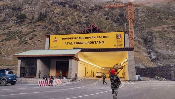 Atal Tunnel at Manali-Leh highway is a 9.2 Kms long strategically important tunnel. (File photo)