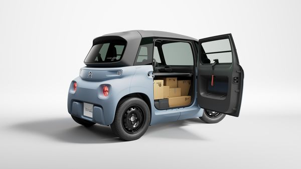 The Citroen Ami mini delivery van gets a luggage space of 260 litres.