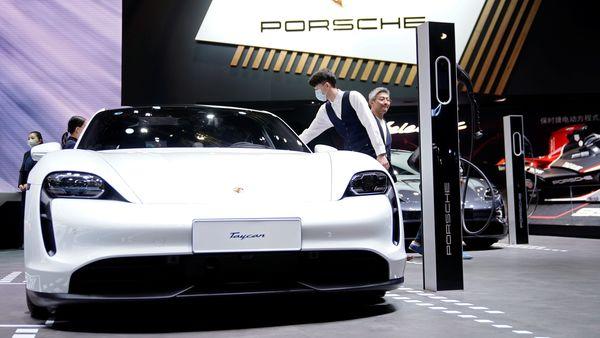 A Porsche Taycan electric vehicle (EV). (Reuters)