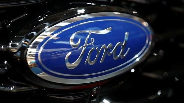 Logo of Ford. (File photo) (Reuters)