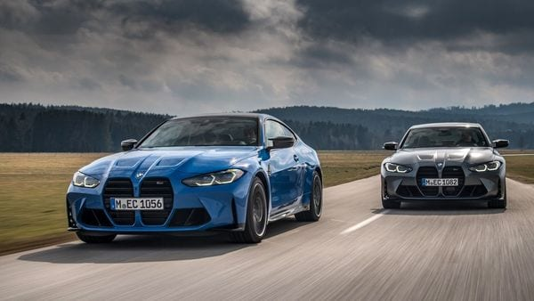 The all-new BMW M3 Competition Sedan with M xDrive and the all-new BMW M4 Competition Coupé with M xDrive.