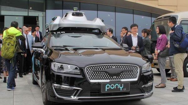 An autonomous vehicle of self-driving car startup Pony.ai (REUTERS)