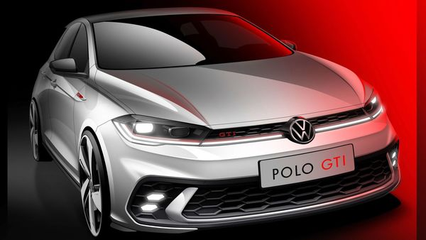 Volkswagen has teased the upcoming Polo GTI hatchback which will be launched next month.