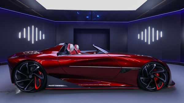 The MG Cyberster electric sportscar made its official debut at the Shanghai Auto Show.