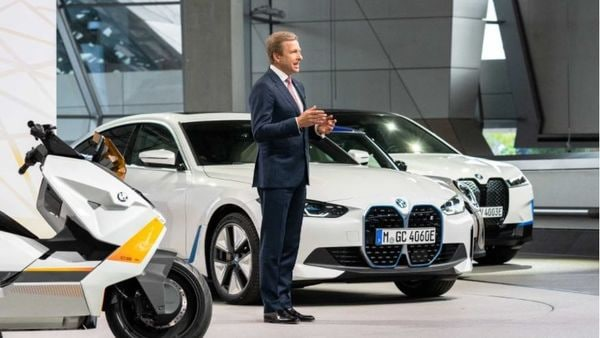 Chairman of the Management Board of BMW, Oliver Zipse, at the Annual General Meeting in Munich.