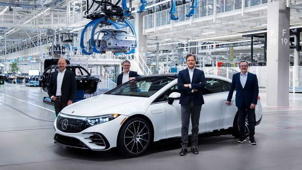 Mercedes EQS electric sedan has entered production at the German carmaker's facility in Sindelfingen.