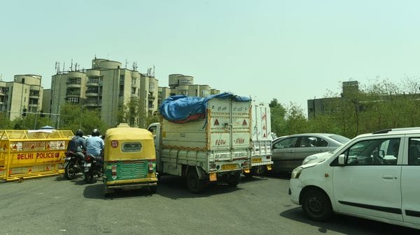 File photo: Screening of commuters done by Delhi Police during curfew.