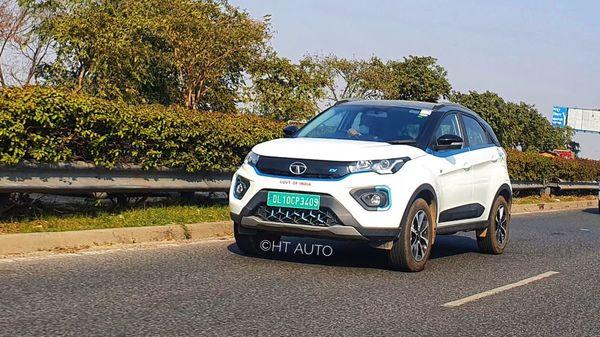 A Tata Nexon electric SUV seen on the roads of Delhi. (File photo)