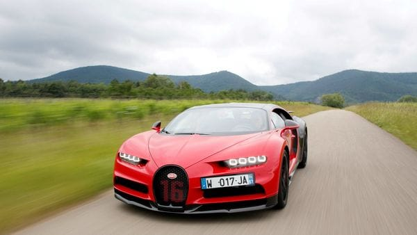 A Bugatti Chiron sports car being driven on a road in France. (File photo) (REUTERS)