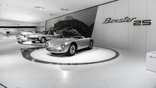 Porsche Boxster on display in the Porsche Museum