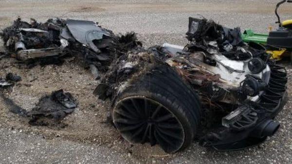 Burnt McLaren GT (Image: Copart.com)