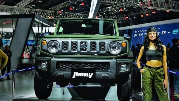 File photo: A Maruti Suzuki Jimny on display at the Auto Expo 2020