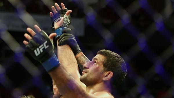 UFC athlete Beneil Dariush reacts after his win against Tony Ferguson. (USA TODAY Sports)