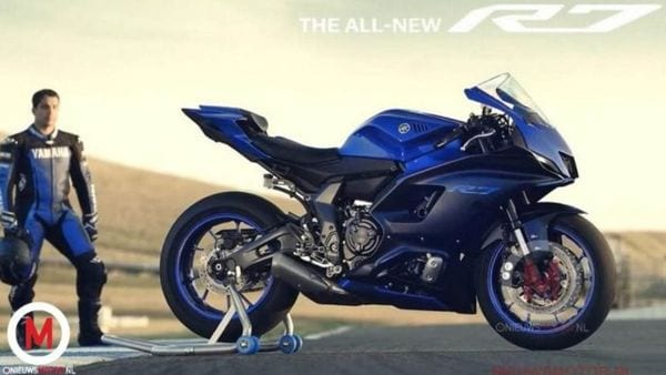 The YZF-R7 will be made available in two colour schemes - Raven Black and Team Yamaha Blue. Image Credits: nieuwsmotor.nl