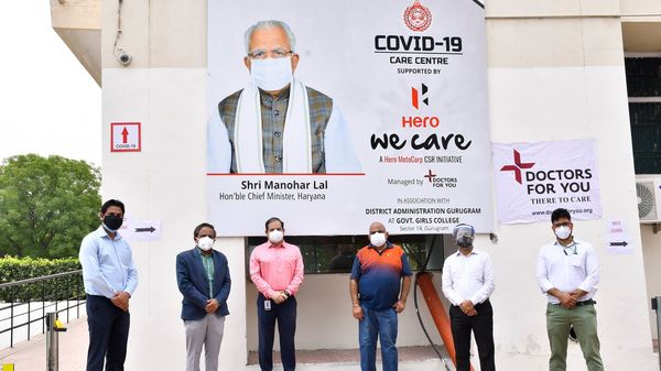 Hero MotoCorp's 100-bed Covid-19 care centre in Gurugram has become operational. (Photo courtesy: Twitter/@HeroMotoCorp)