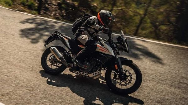 Representational Image of the new KTM 390 Adventure equipped with alloy wheels.