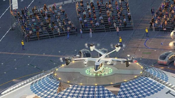 Photo of the flying car airport to come up in Coventry, England.