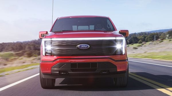 The design is very similar to the gasoline version, but headlights are new. The Ford F-150 Lightning is the 'frunk' or boot space under the hood thanks to the missing internal combustion engine. It opens up around 400 litres of space.