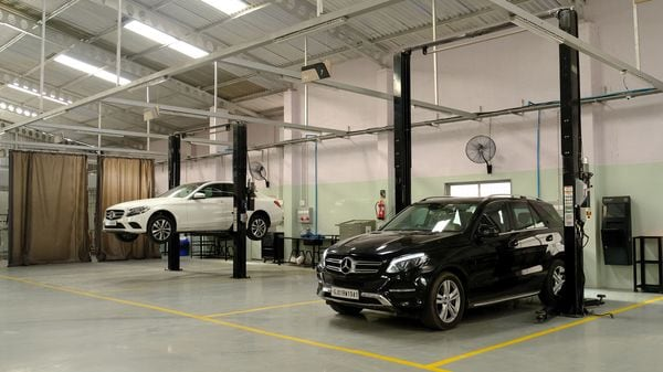 File photo of a Mercedes-Benz workshop in Surat.