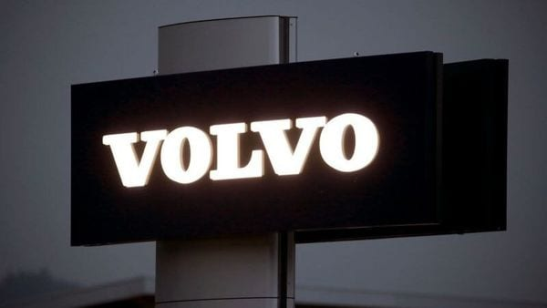 The logo of Swedish automobile manufacturer Volvo. (File photo) (Reuters)