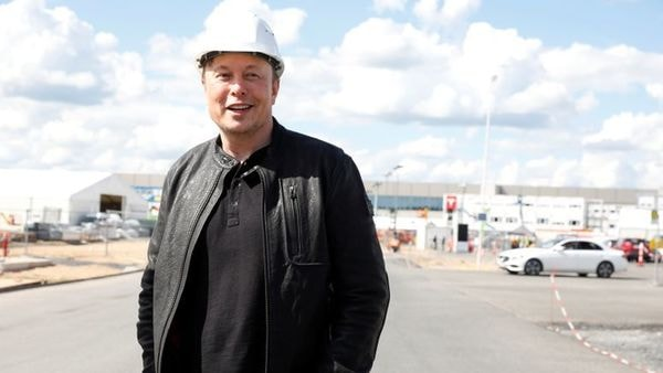 Tesla CEO Elon Musk looks on as he visits the construction site of Tesla's gigafactory near Berlin, Germany. (File photo) (REUTERS)
