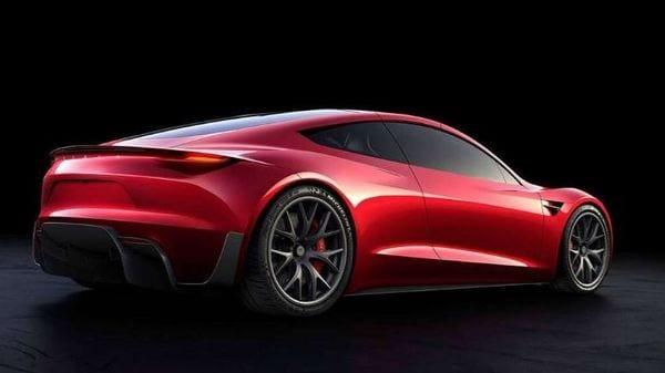 Photo of a Tesla Roadster.