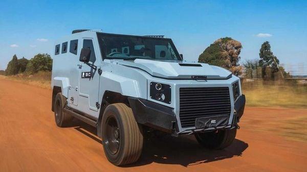 Based on a 70 Series Toyota Land Cruiser SUV, the vehicle is bulletproof. (Image: SVI Engineering)