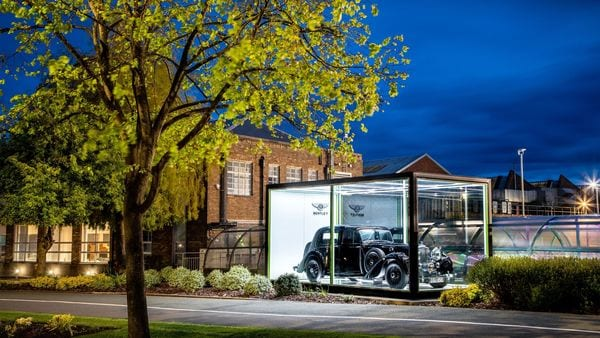 Bentley MK V was the last car to roll off the production line in Derby, England before the dawn of the Crewe era in May 1946, It has been put on display at its Crewe facility.