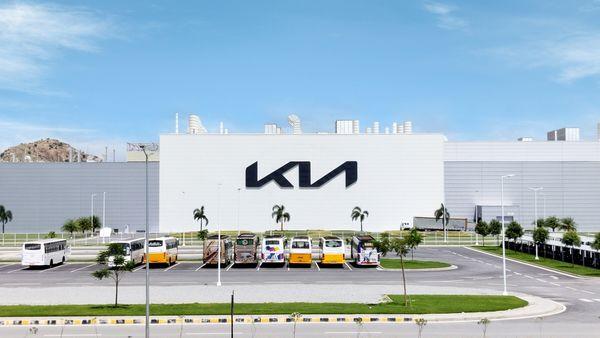 The Kia India manufacturing facility in Andhra Pradesh's Anantapur.
