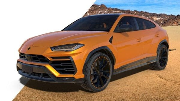 File photo of a Lamborghini Urus Pearl Capsule edition (orange)