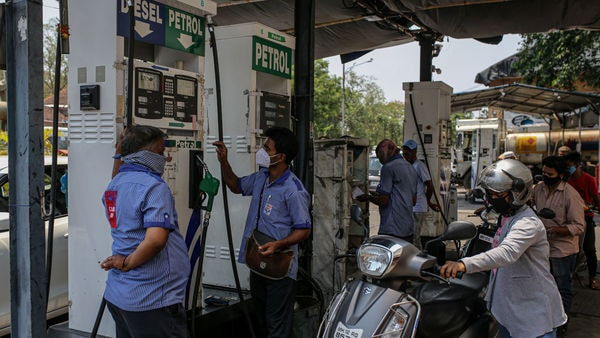 Petrol rate in Mumbai neared ₹100 a litre after fuel prices were raised again on Tuesday. (Bloomberg)