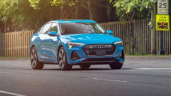 Audi e-tron Sportback equipped with C-V2X system