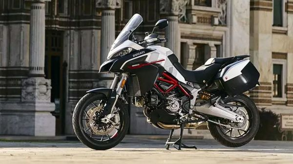 The new GP White colour scheme will be on offer alongside the classic Ducati Red on the Multistrada 950 S.