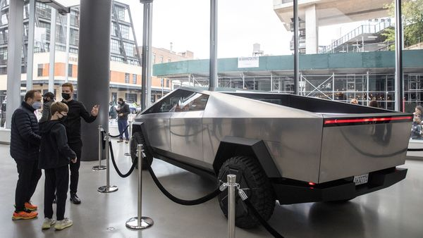 File photo: Tesla Cybertruck is displayed at Manhattan's Meatpacking District in New York City. (REUTERS)