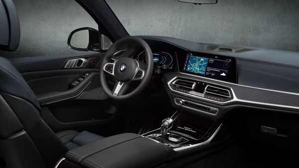 There is a 12.3-inch digital instrument display behind the steering wheel and a 12.3-inch infotainment system dominating the dashboard.