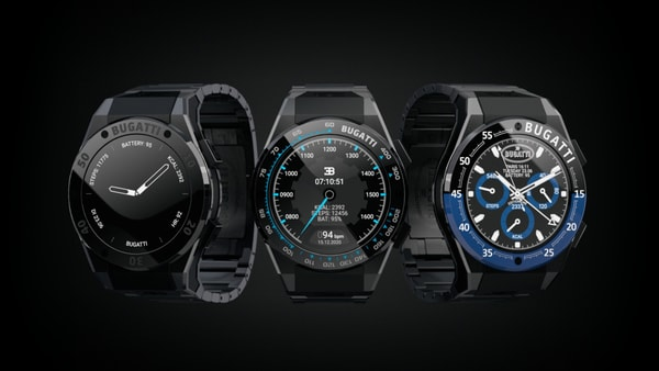 These smartwatches have been named after the automaker's special edition models that is Pur Sport, Divo and Le Noire. (Bugatti)