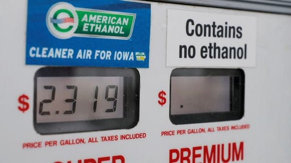 File photo of a gas station including ethanol-based fuel in US. (REUTERS)