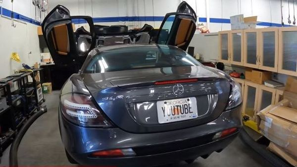 Paris Hilton's ex McLaren SLR. (Image: Screengrab from a video posted on YouTube by Hoovies Garage)