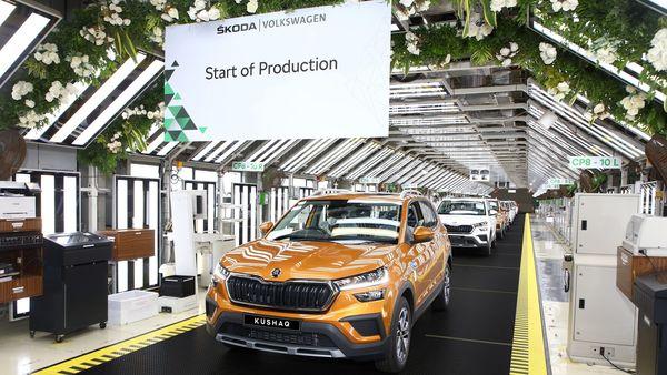 Skoda Kushaq at the company production facility in Pune.