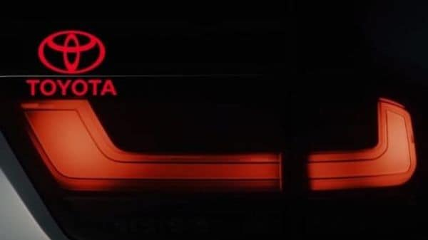 The latest teaser videos reveal the new Toyota Lands Cruiser's LED taillight design. (Image: Toyota)