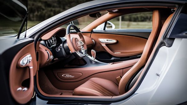 Bugatti claims the interior is perfectly suited to high-speed continental trips.