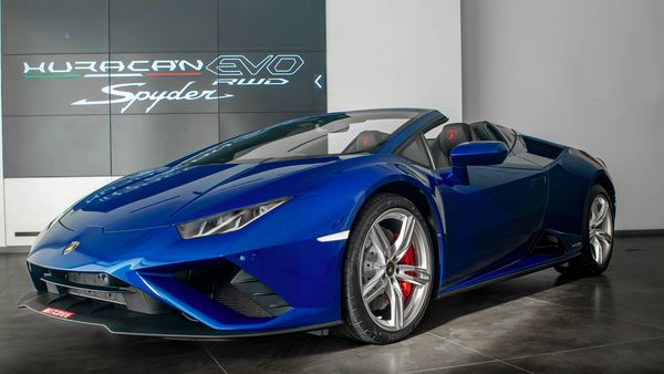 Lamborghini has launched the Huracan Evo Rear-Wheel Drive (RWD) Spyder in India today. It is an open-top rear-wheel-drive model which is based on the luxury sports car maker's popular Huracan Evo and will be priced at <span class='webrupee'>₹</span>3.54 crore.