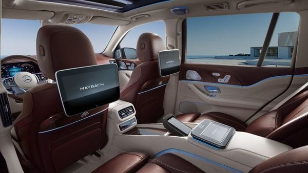 At the rear, passengers get added legroom with 120 millimetres extra space to push back seats than one can in the Mercedes-Benz GLS. The backrest too can be inclined by up to 43.5 degrees. Rear occupants also get removable MBUX touch tablets.