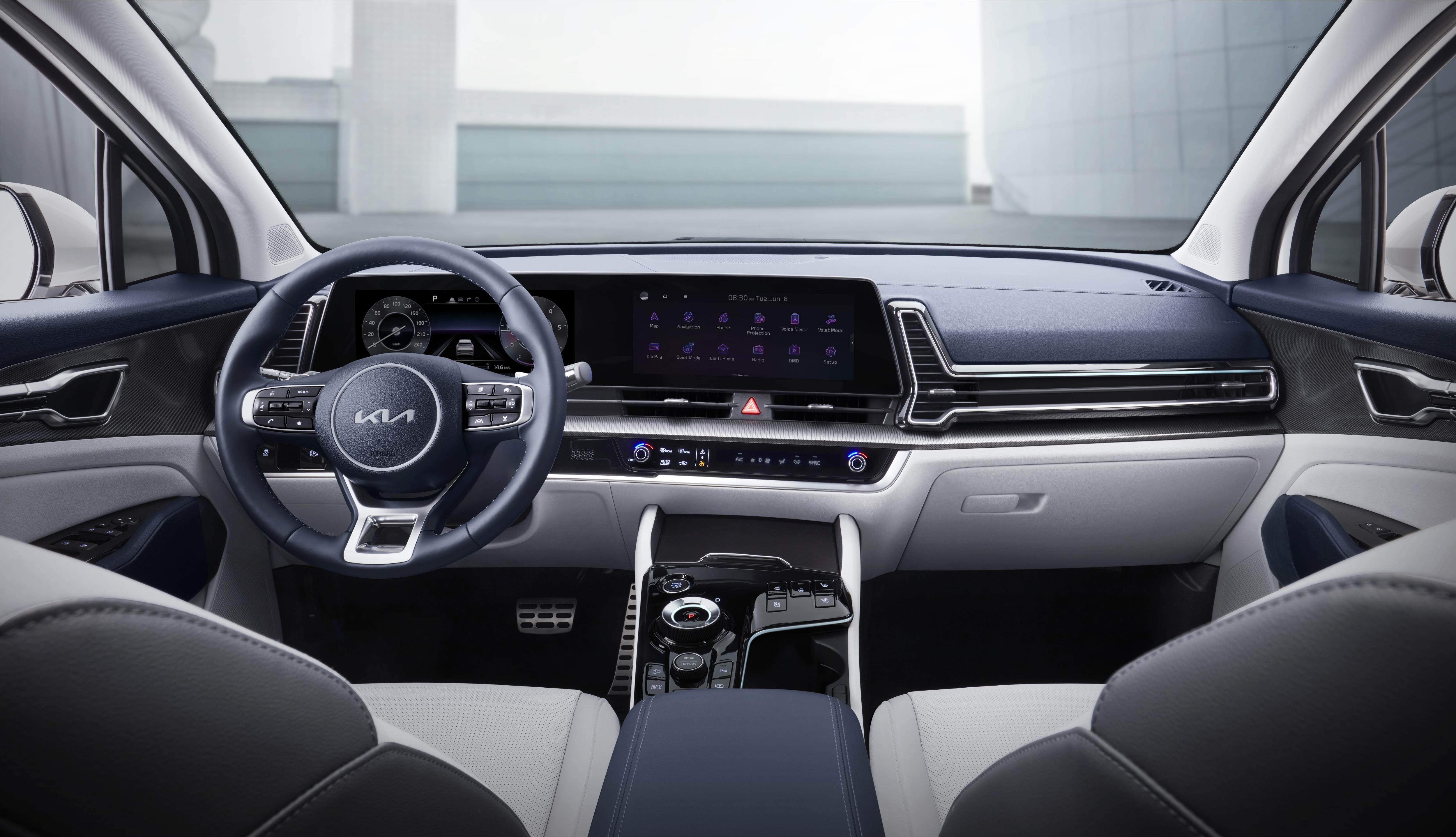 The interior of the 2022 Kia Sportage SUV
